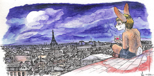 Paris' roofs by Torajio