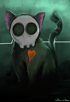 Skull Kitten by williamcjones48
