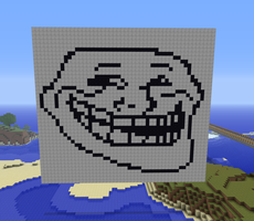 Minecraft Trollface by exit1