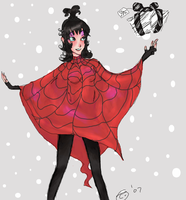 Happy Christmas - Lydia Deetz by Best-Never-Knowing