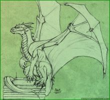 dragon sketch for tasyne by Beast3