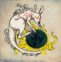 Fiddle-Okami Style by Clairictures