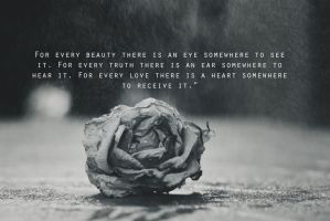 For every beauty theres is an eye somewhere to see by BlueColoursOfNature