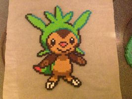 Chespin Perler Bead Sprite by pokelover586