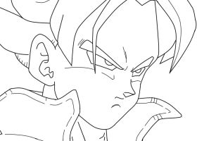 SSJ Future Trunks Closeup_WIP by carapau