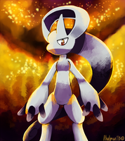 Mewtwo's new form by Phatmon66