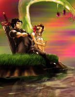 Zack and Aerith by GANTZRUNNER