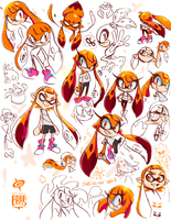 Splatoon ArtPile 01 by SPIRALCRIS