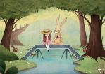 mr rabbit and the lovely book by cocinando-colores
