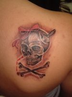 another girly skull by tattooistgus