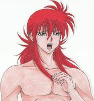 Kurama cries by Kohaku-in-chaos