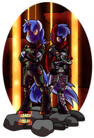 [Comm] Hellstone Armor by Isaacs-Collar