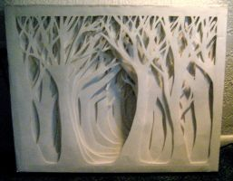 paper forest front view by moberry-tea