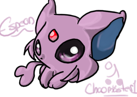 Espeon in Photoshop by Chaomaster1