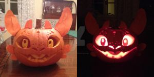 night fury pumpkin by Domomikka4e