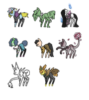 Ponies Haloween Batch Open by Shadow-Wolf-Adopts
