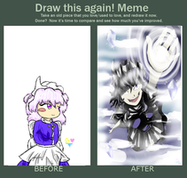 Before and After Meme: Letty Whiterock by Artizluv