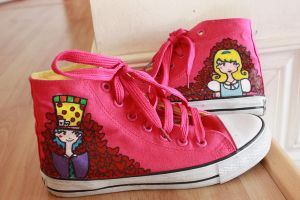 Alice in Wonderland Shoes by lemonessence