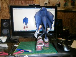 Sonic The Hedgehog Papercraft (c) by Esteban1988