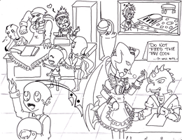 Restaurant Idea - line art by ProjectHalfbreed