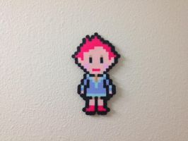 Princess Kumatora - Mother 3 - Fuse Beads by chocovanillite