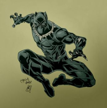 Black Panther (colors) W.I.P. by FantasticMystery