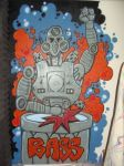 Bass Robot Mural by JimmieJump