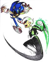 Danny Phantom vs. Sonic.exe by Xaolin26