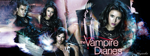 The Vampire Diaries Banner 3 by theanyanka