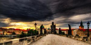 Sunrise on Charles Bridge by PariahLycan
