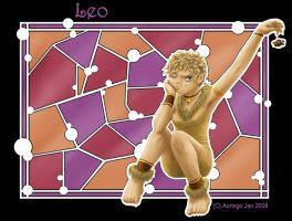 Stained Glass-Leo by Aoringo