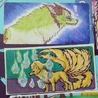 past sessha and hey theres ninetails again by foxteeth