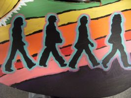 Abbey Road Stencil by Sum41luvr224