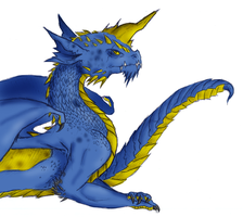 Rasvim the Blue Dragon by Coloursfall
