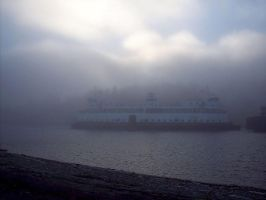 WSF: Ferry In The Fog by Photos-By-Michelle