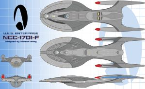 My Enterprise-F Submission by trekmodeler