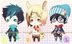 Auction : RandomMale Chibi Set 2 [CLOSED] by Hyrei