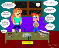 Brandon and Roxanne: Summer Gaming 1997 by JackassRulez95