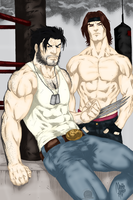 Wolverine and Gambit Workout by Blackmoonrose13