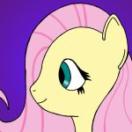 Fluttershy  Bust Flat color by Zethma