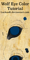 Wolf eye coloring tutorial (without text) by LuckasK