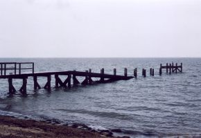 Pier to nowhere by gmtb-stock