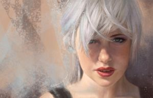 white haired by weiliwonka