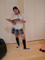 Private School  Girl 18 by imagine-stock
