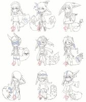 [To be Animated] Adoptables [CLOSED SPECIES] CLOSE by TCS-Adoptables
