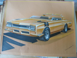 DUSTER 1 rendering by Chrysler designer D. Swanson by cadillacstyle