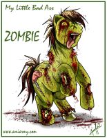 My Little Bad Ass Zombie Pony by Amelie-ami-chan