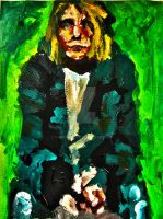 Kurt Cobain - NIRVANA portrait by vanouka