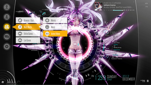 WRS rainmeter w/ SAO menu interface 01 by EvannGeo