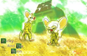 BrBa-Pinky and the Brain by Mark-Clark-II
